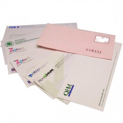 กระดาษหัวจดหมายและซองจดหมาย