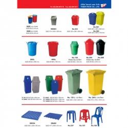 ถังน้ำพลาสติก, ถังขยะพลาสติก, เก้าอี้พลาสติก, แผ่นรองพื้น