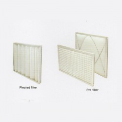 Pre-filter/Pleated filter with aluminum frame