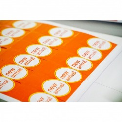 Print product label stickers