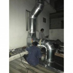 Installation of air ducts.