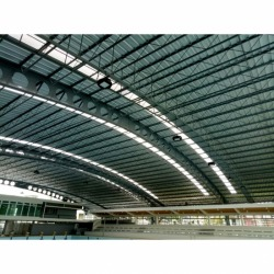 Roof frame swimming stadium