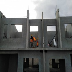 Precast pre-installed wall panels