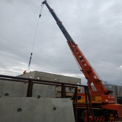 Ready-made concrete wall installation