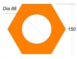 เสาเข็ม เสาเข็มคอนกรีต หกเหลี่ยมกลวง Hexagon Section Pile   - เอเซียกรุ๊ป (1999) เสาเข็มคอนกรีต