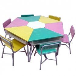 โต๊ะเก้าอี้นักเรียนแบบกลุ่ม