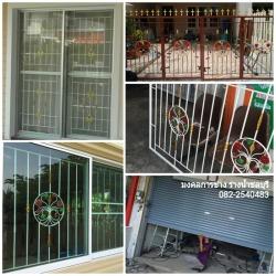 เหมาติดตั้งงานเหล็กดัด(ประตู-หน้าต่าง-รั้ว) มุ้งลวด ประตู้ม้วน - มงคลการช่าง รางน้ำชลบุรี