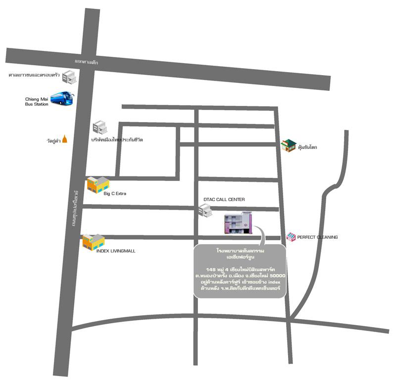 แผนที่ โรงพยาบาลทันตกรรม เอเซีย ฟอร์จูน