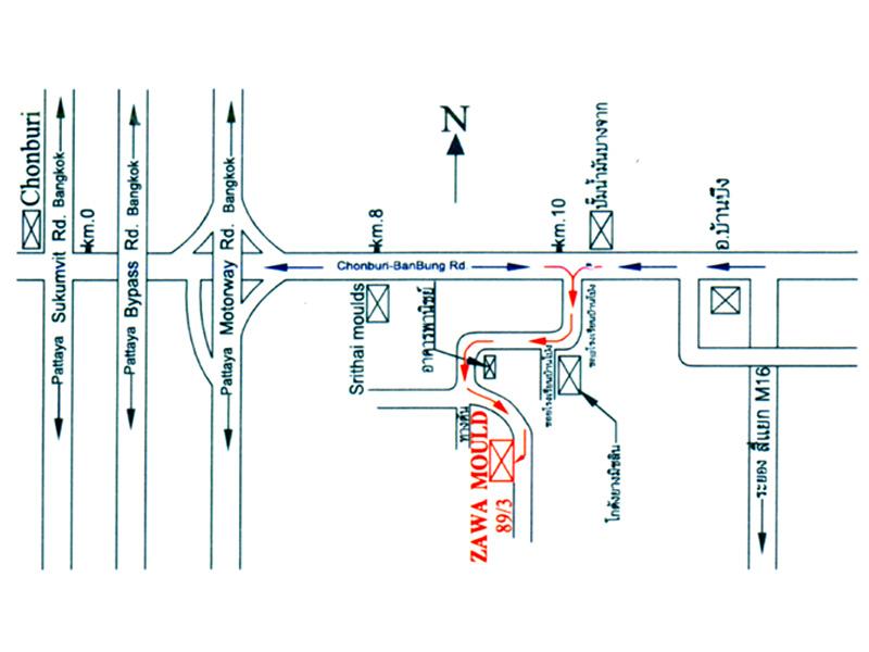 แผนที่ ห้างหุ้นส่วนจำกัด ซาวาโมลด์ แอนด์ เอ็นจิเนียริ่ง