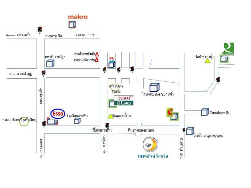 แผนที่ เพชรจันท์ รีสอร์ท-ที่พักจันทบุรี