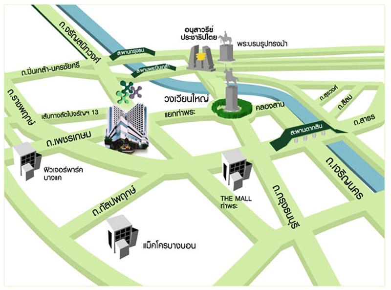 แผนที่ โรงพยาบาลพญาไท 3