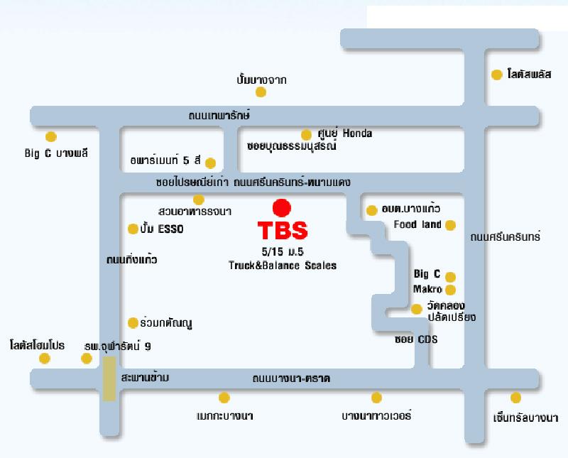 แผนที่ บริษัท ทรัค แอนด์ บาลานซ์ สเกลส์ จำกัด