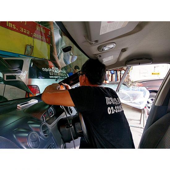 สินไทย กระจกรถยนต์  - ซ่อมรอยแตกหินโดนกระจกรถยนต์