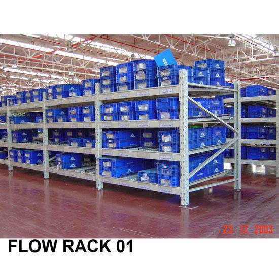 ชั้นวางสินค้าในโรงงาน (Flow rack ) Flow Rack