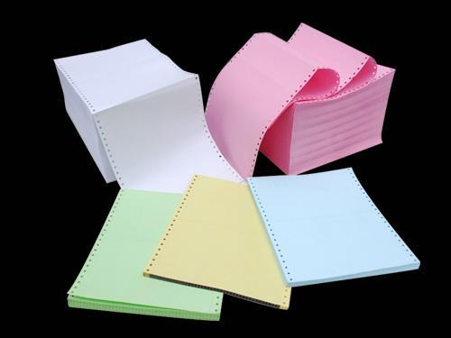 กระดาษต่อเนื่องคอมพิวเตอร์ปอนด์สี กระดาษต่อเนื่องคอมพิวเตอร์ปอนด์ขาวและสี