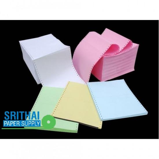 กระดาษต่อเนื่องคอมพิวเตอร์ปอนด์สี กระดาษต่อเนื่องคอมพิวเตอร์ปอนด์ขาวและสี  กระดาษต่อเนื่อง 4 ชั้น  กระดาษต่อเนื่อง 1 ชั้น  ฟอร์มกระดาษต่อเนื่อง สําเร็จรูป