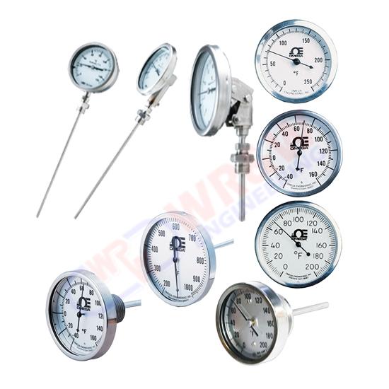 เครื่องวัดอุณหภูมิ  เครื่องวัดอุณหภูมิ Bimetal Thermometers