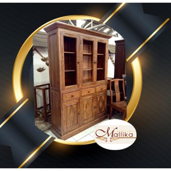 ตู้ไม้สักแกะสลักประดับกระจก เชียงใหม่ ตู้ไม้สักแกะสลักประดับกระจก เชียงใหม่