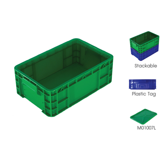 ลังพลาสติกทึบ - บริษัท แพลตตินั่ม โปร พลาสติก จำกัด - คอนเทนเนอร์ คอนเทนเนอร์พลาสติก plastic container solid crates ลัง ลังพลาสติก