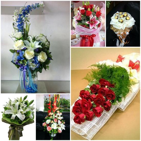 จัดดอกไม้ กระเช้าดอกไม้
