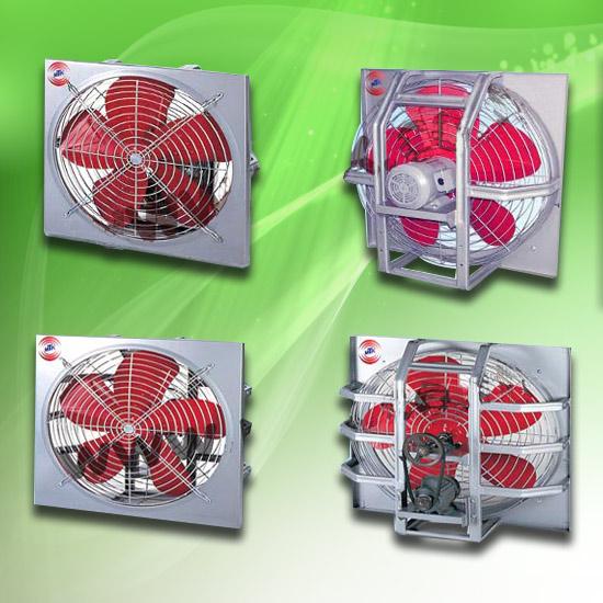 พัดลมโรงงาน - มงคลถาวรกิจ - พัดลมใบแดงระบายอากาศ