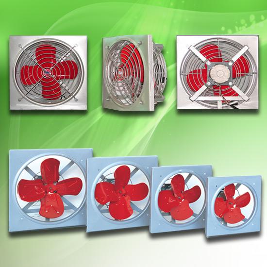 พัดลมอุตสาหกรรม - มงคลถาวรกิจ - พัดลมใบแดง รุ่นบานเกล็ด