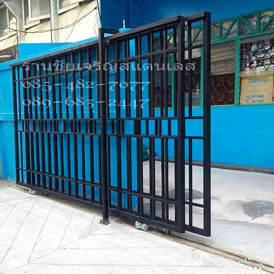 ประตูหน้าต่างเหล็กสีดำด้าน - ประตูรั้วสแตนเลส-ชัยเจริญสแตนเลส - ประตูเหล็ก ประตูหน้าต่างสีดำ หน้าต่างเหล็กดัด ประตูรั้วสีดำ