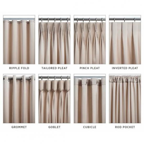 จิรภาส ผ้าม่าน - รูปแบบผ้าม่าน