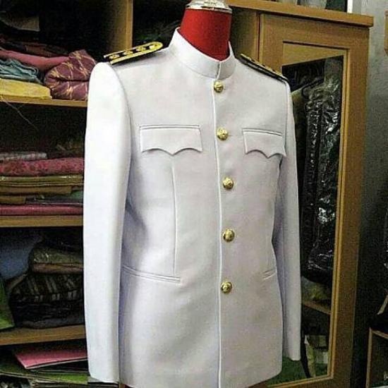 ร้านตัดเสื้อ ป๊อปดีไซน์ - ชุดปกติขาว(ชาย)