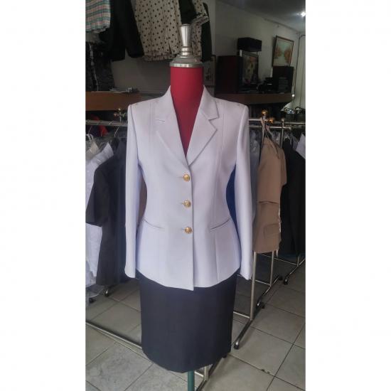 ร้านตัดเสื้อ ป๊อปดีไซน์ - ชุดปกติขาว(สตรี)
