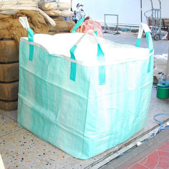 ถุงจัมโบ้บรรจุ 1,000 กก ถุงก้นสี่เหลียม  ถุงผ้าดิบ  ผ้ากระสอบบาง  ผ้ากระสอบหนา  ถุง HD  งานกราเวียร์  ถุงจัมโบ้