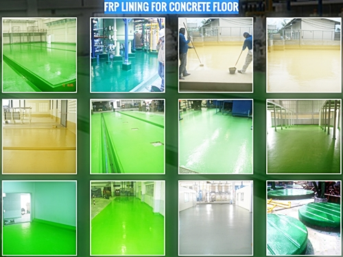 FRP LINING FOR CONCRETE FLOOR