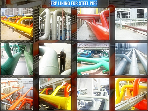 FRP LINING FOR STEEL PIPE