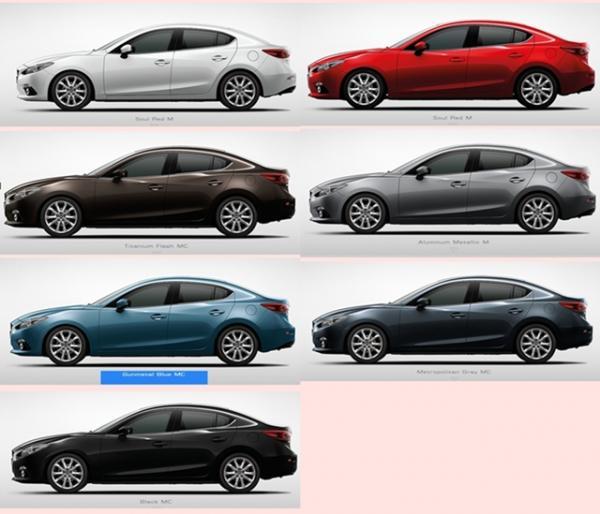 ชาร์ทสี All New Mazda3
