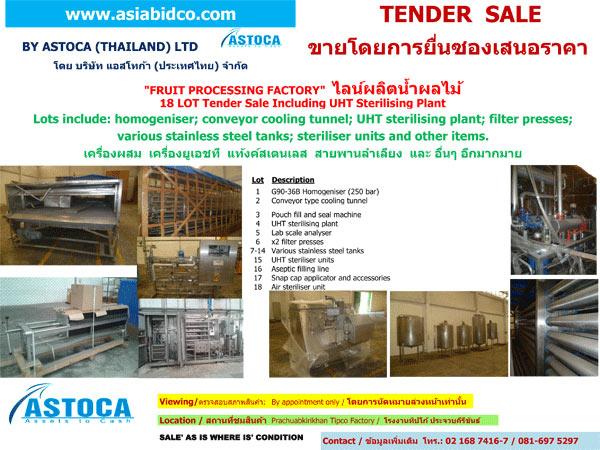 ไลท์ผลิตน้ำผลไม้ – Tipco Wangnoi - บริษัท แอสโทก้า (ประเทศไทย) จำกัด