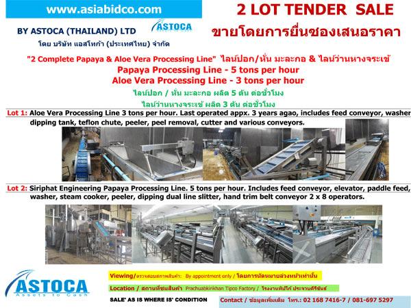 ไลท์ปอกมะละกอ & ว่านหางจระเข้- Tipco ประจวบฯ - บริษัท แอสโทก้า (ประเทศไทย) จำกัด