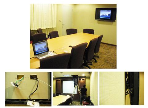 งานติดตั้ง LED TV และเดินสายสัญญาณระบบภาพและเสียงสำหรับห้องประชุม - บริษัท เดอะเบสท์ มัลติมีเดีย โปรเฟสชั่นแนล จำกัด