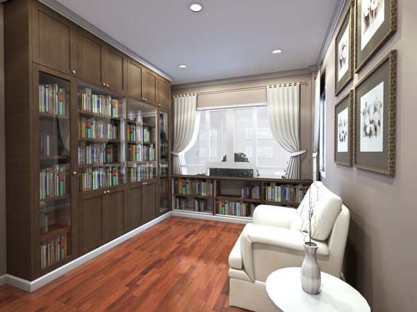 ห้องหนังสือ - พรีดีไซน์ - รับสร้างบ้านหรู
