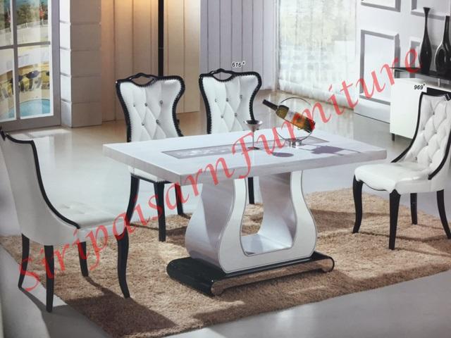 โต๊ะอาหารหินอ่อน รหัส BT29# ขนาด 1.40x0.85 เมตร