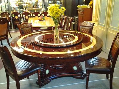 โต๊ะกลม 1.92 พร้อมเก้าอี้ 10 ตัว
