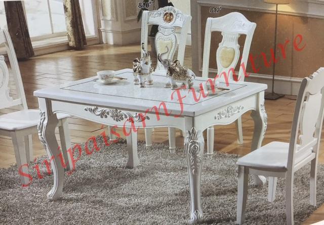 โต๊ะอาหารหลุยส์ 1.40x0.85 เมตร