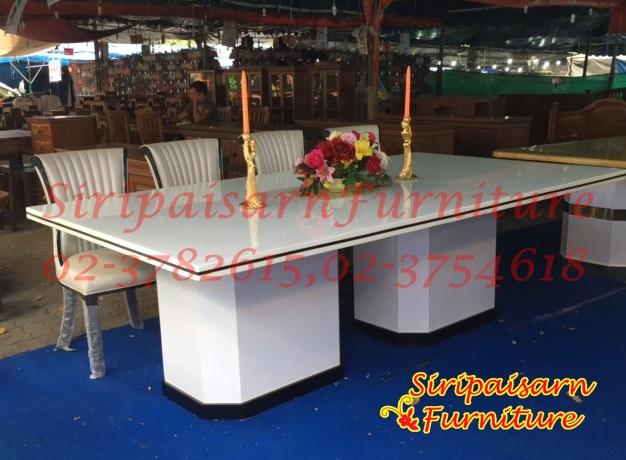 โต๊ะอาหารหินอ่อน 2.40 x 1.20 เมตร